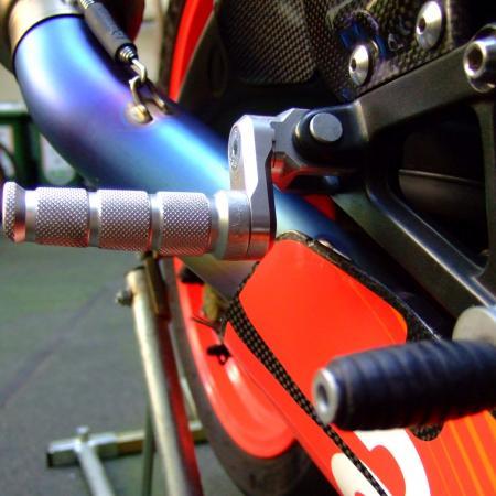 07- MFW verstellbare einstellbare Vario Fußrasten Ducati Hypermotard 796